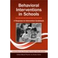 Behavioral Interventions in Schools: A Response-to-Intervention Guidebook by Hulac; David M., 9780415875851