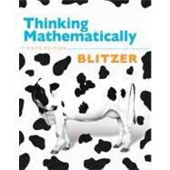 Thinking Mathematically by Blitzer, Robert F., 9780321645852