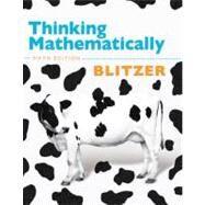Thinking Mathematically by Blitzer, Robert F., 9780321645852