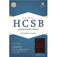 HCSB Super Giant Print Reference Bible, Saddlebrown LeatherTouch Indexed by Holman Bible Staff, 9781433615856