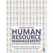 Human Resource Management: The Public Service Perspective by Fredericksen; Elizabeth D, 9780765645869