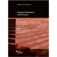Dispute Resolution and Lawyers by Riskin, Leonard L.; Westbrook, James; Guthrie, Christopher P.; Reuben, Richard C., 9780314285898