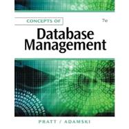 Concepts of Database Management by Pratt, Philip J.; Adamski, Joseph J., 9781111825911