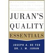 Juran's Quality Essentials For Leaders by Defeo, Joseph A., 9780071825917