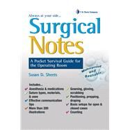 Surgical Notes: A Pocket Survival Guide for the Operating Room by Sheets, Susan, 9780803625921