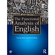The Functional Analysis of English by Bloor; Thomas, 9780415825931