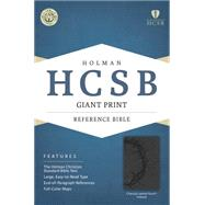 HCSB Giant Print Reference Bible, Charcoal LeatherTouch Indexed by Holman Bible Staff, 9781433615931