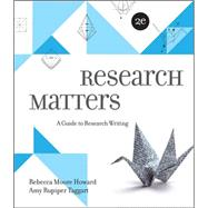Research Matters by Howard, Rebecca Moore; Rupiper Taggart, Amy, 9780073405940