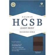 HCSB Giant Print Reference Bible, Brown/Chocolate LeatherTouch by Holman Bible Staff, 9781433615948