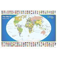 National Geographic the World for Kids Map by National Geographic Maps - Reference, 9781597755955