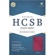 HCSB Giant Print Reference Bible, Pink LeatherTouch by Holman Bible Staff, 9781433615962