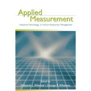 Applied Measurement: Industrial Psychology in Human Resources Management by Whetzel,Deborah L., 9781138875968