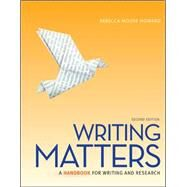 Writing Matters, Tabbed (Spiral Bound Edition) by Howard, Rebecca Moore, 9780077505974