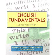 English Fundamentals by Emery, Donald W.; Kierzek, John M.; Lindblom, Peter, 9780205825974
