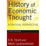 History of Economic Thought, 3rd Edition: A Critical Perspective by Hunt,E. K., 9780765625991