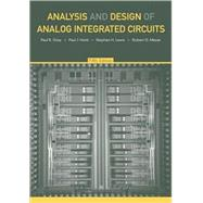 Analysis and Design of Analog Integrated Circuits, 5th Edition by Paul R. Gray (University of California, Berkeley); Paul J. Hurst (University of California, Davis); Stephen H. Lewis; Robert G. Meyer (University of California, Berkeley), 9780470245996