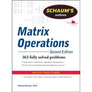 Schaum's Outline of Matrix Operations by Bronson, Richard, 9780071756044