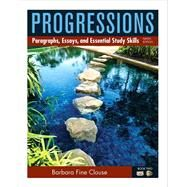 Progressions, Book 2 Paragraphs, Essays, and Essentials Study Skills by Clouse, Barbara, 9780205186044