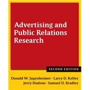 Advertising and Public Relations Research by Jugenheimer; Donald W, 9780765636065