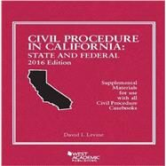 Civil Procedure in California by Levine, David, 9781634606073