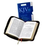 KJV Pocket Reference Edition KJ243:XRZ Black French Morocco Leather, with Zip Fastener by Bible, 9780521146074