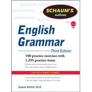 Schaum's Outline of English Grammar, Third Edition by Ehrlich, Eugene, 9780071756075