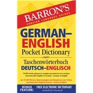 Barron's German-English Pocket Dictionary / Taschenworterbuch Beutsch-Englisch by Martini, Ursula; Dralle, Anette (CON); Reul, Caroline (CON), 9781438006086