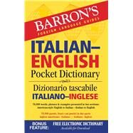 Barron's Italian-english Pocket Dictionary: 70,000 Words, Phrases & Examples Presented in Two Sections: American Style English to Italian - Italian to English by Martignon-burgholte, Roberta; Cyffka, Andreas, 9781438006093