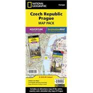 National Geographic Adventure Travel Map Czech Republic, Europe / National Geographic Destination Map City Map & Travel Guide Prague, Europe Map Pack by National Geographic Maps, 9781597756105