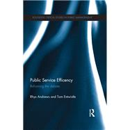 Public Service Efficiency: Reframing the Debate by Andrews; Rhys, 9781138206120