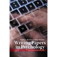 Writing Papers in Psychology by Rosnow, Ralph L.; Rosnow, Mimi, 9781111726133
