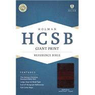 HCSB Giant Print Reference Bible, Saddle Brown LeatherTouch Indexed by Holman Bible Staff, 9781433616136