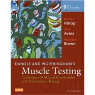 Daniels and Worthingham's Muscle Testing: Techniques of Manual Examination and Performance Testing (Book with Access Code) by Hislop, Helen, Avers, Dale, and Brown, Marybeth, 9781455706150