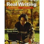 Real Writing with Readings 7e & LaunchPad Solo for Readers and Writers (Six-Month Access) by Unknown, 9781319036164