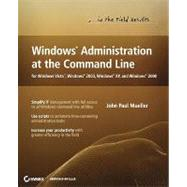 Windows Administration at the Command Line for Windows Vista, Windows 2003, Windows XP, and Windows 2000 at Biggerbooks.com