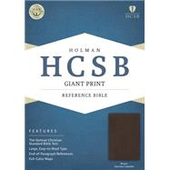 HCSB Giant Print Reference Bible, Brown Genuine Cowhide by Holman Bible Staff, 9781433616167