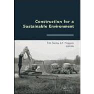Construction for a Sustainable Environment by Sarsby; Robert, 9780415566179