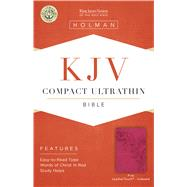 KJV Compact Ultrathin Bible, Pink LeatherTouch, Indexed by Holman Bible Staff, 9781433646195