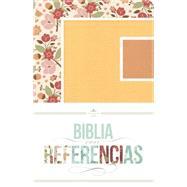 RVR 1960 Biblia con Referencias, floral, durazno/damasco símil piel by Unknown, 9781433616198