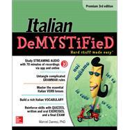 Italian Demystified, Premium 3rd Edition by Danesi, Marcel, 9781259836213