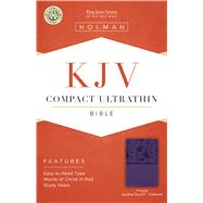 KJV Compact Ultrathin Reference Bible, Purple LeatherTouch, Indexed by Holman Bible Staff, 9781433646218