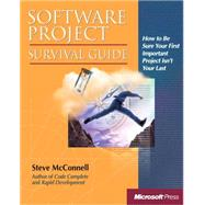 Software Project Survival Guide by McConnell, Steve, 9781572316218