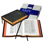 NKJV Wide Margin Reference Bible, Black Edge-Lined Goatskin Leather, Red Letter Text NK746:XRME by Bible, 9780521706230