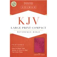 KJV Large Print Compact Reference Bible, Pink LeatherTouch, Indexed by Holman Bible Staff, 9781433646232