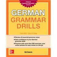 German Grammar Drills, Third Edition by Swick, Ed, 9781260116250
