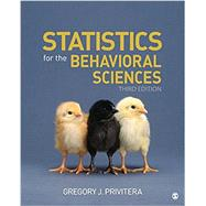 Statistics for the Behavioral Sciences by Privitera, Gregory J., 9781506386256
