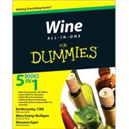 Wine All-in-One For Dummies by Unknown, 9780470476260