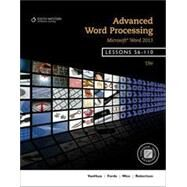 Bundle: Advanced Word Processing, Lessons 56-110: Microsoft� Word, 19th + Keyboarding Pro Delux Online Lessons 56-110 Printed Access Card by VanHuss; Forde; Woo; Robertson, 9781285576282