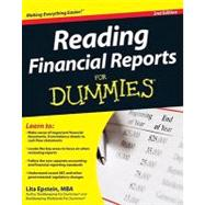 Reading Financial Reports For Dummies by Epstein, Lita, 9780470376287