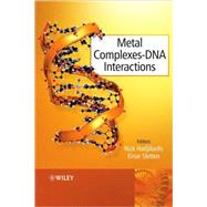 Metal Complex - DNA Interactions by Hadjiliadis, Nick; Sletten, Einar, 9781405176293